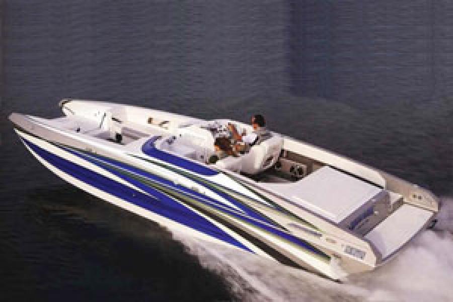 "Howard 28 Sportdeck just awarded 2008 Powerboat Magazine ""Deck Boat of the Year Award""."